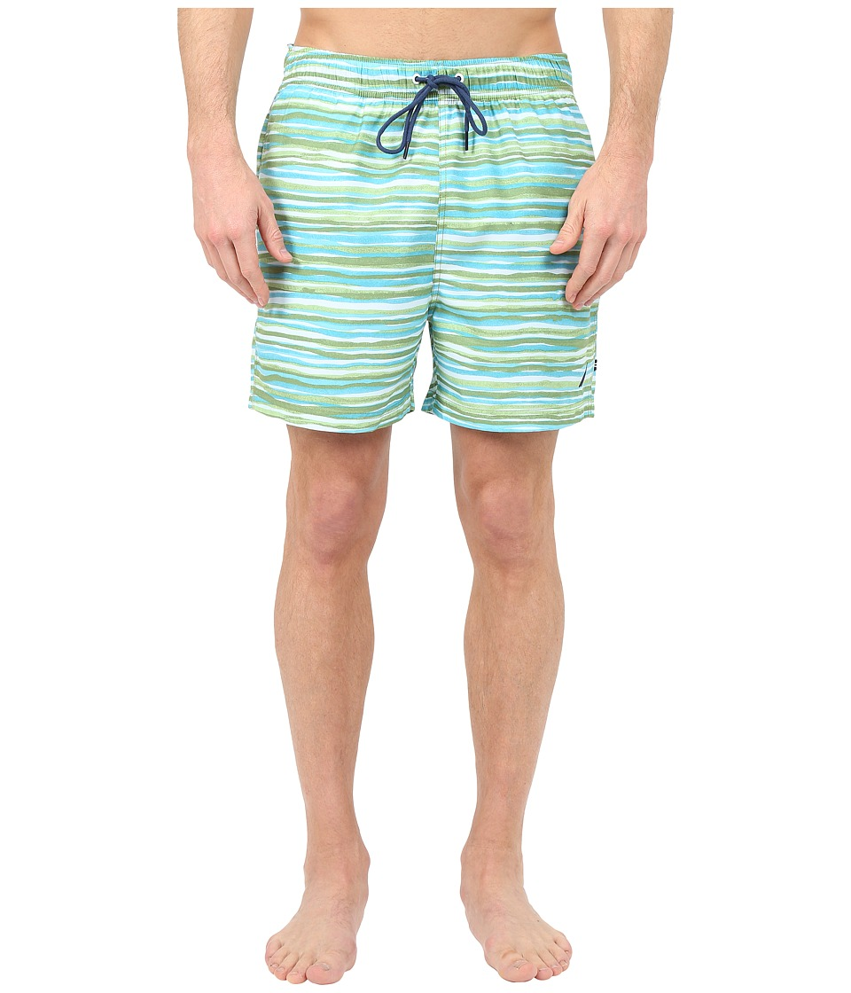 Nautica - Water Color Print Trunk (Tropical Foliag) Men's Swimwear