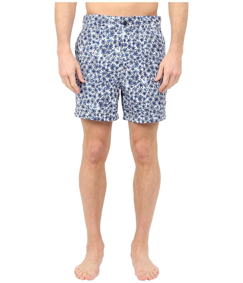 Nautica - Micro Floral Half Back (Deep Saphire) Men's Swimwear