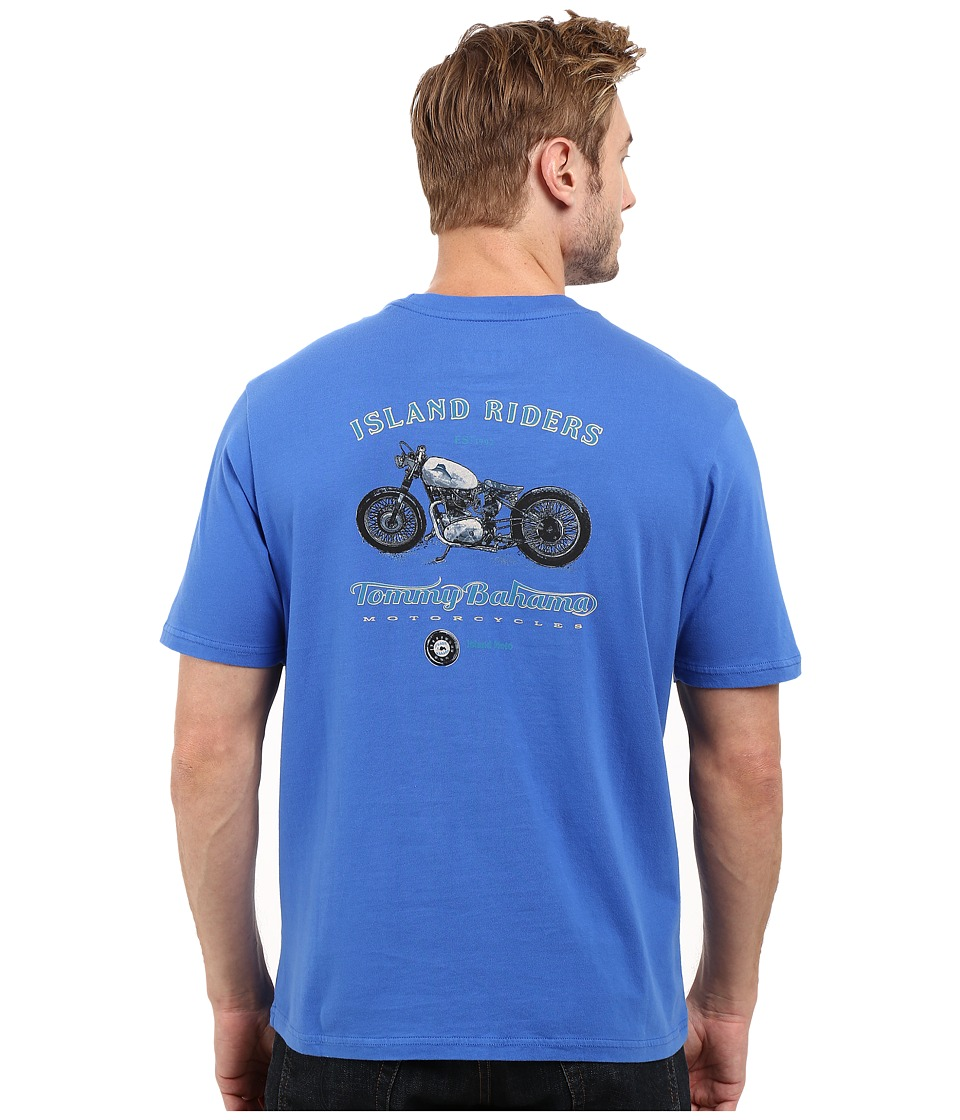 Tommy Bahama Island Riders Tee (Cobalt Glass) Men