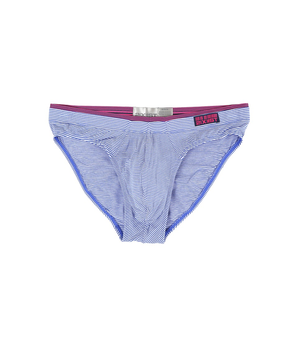 2(X)IST - Barcode Modal Bikini Brief (Dazzling Blue) Men's Underwear