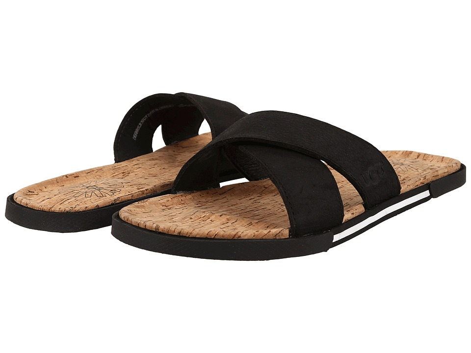 UGG - Ithan Cork (Black Nubuck) Men's Sandals