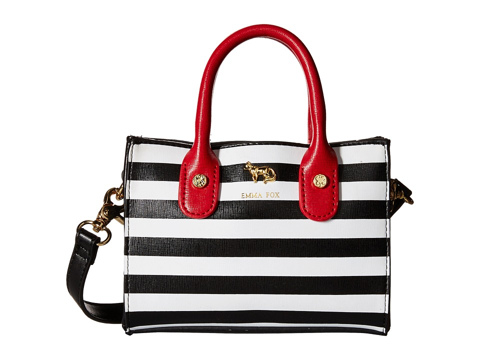 Emma Fox - Hudson Mini Tote (Black/White/Red) Tote Handbags