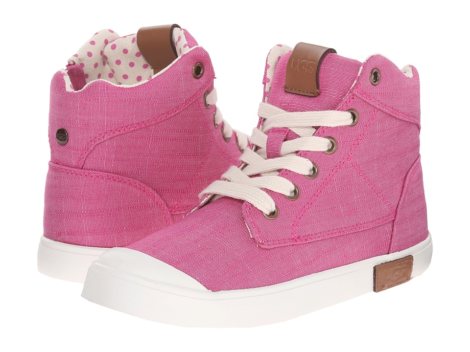 UGG Kids - Chrissa (Toddler/Little Kid/Big Kid) (Furious Fuchsia Canvas) Girls Shoes