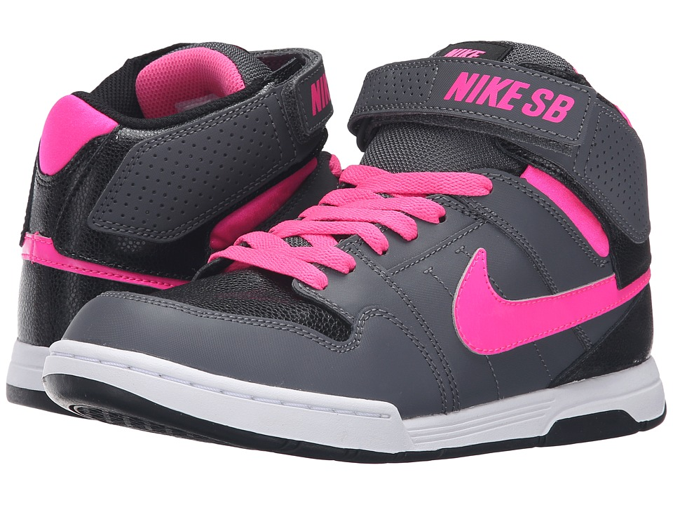 Nike SB Kids - Mogan Mid 2 Jr (Little Kid/Big Kid) (Dark Grey/Black/White/Pink Blast) Kid's Shoes