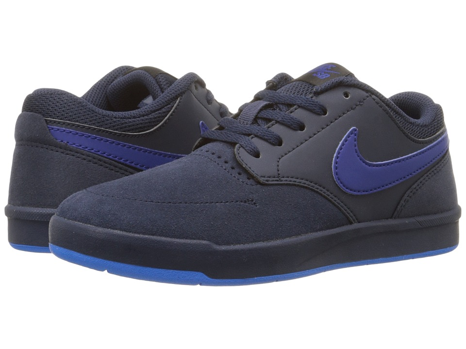 Nike SB Kids - SB Fokus (Big Kid) (Obsidian/Black/Photo Blue/Deep Royal Blue) Boy's Shoes