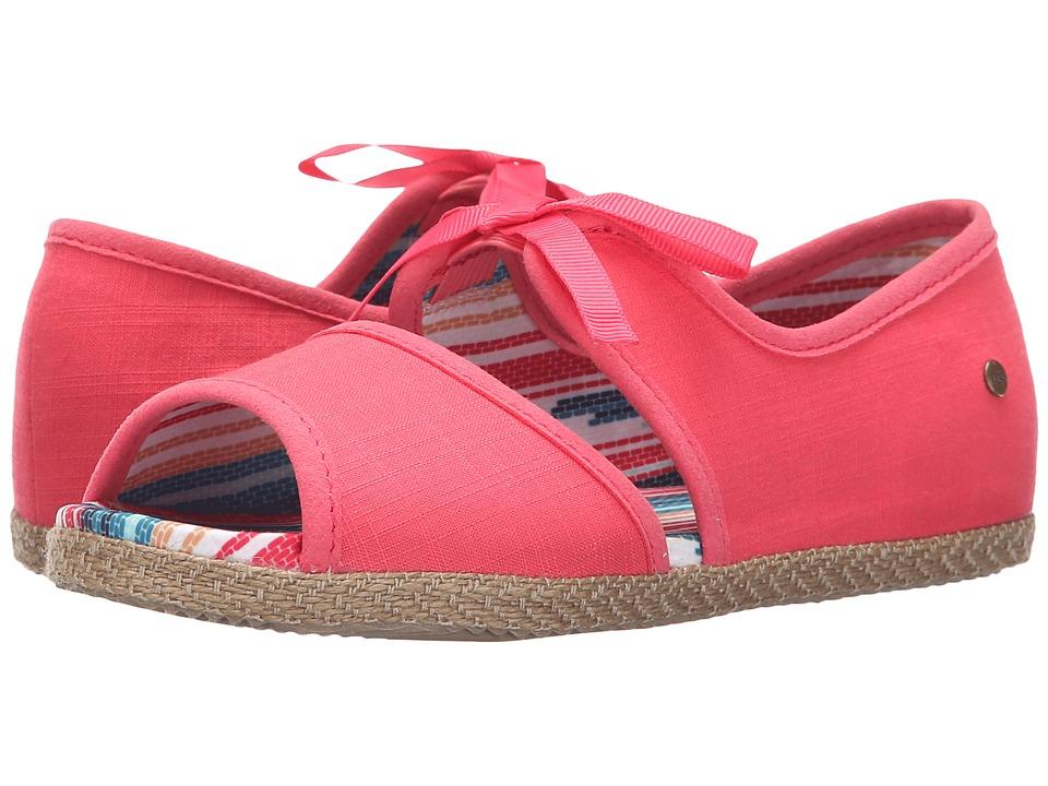 UGG Kids - Ashleen (Little Kid/Big Kid) (Sunset Red Canvas) Girls Shoes