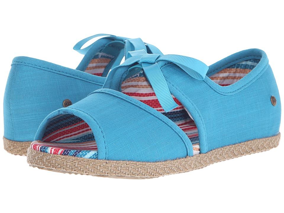 UGG Kids Ashleen (Little Kid/Big Kid) (Surf Blue Canvas) Girls Shoes