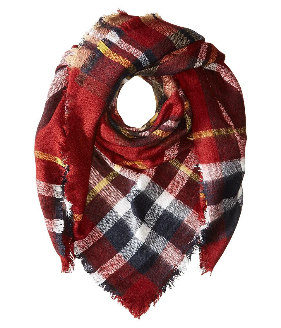 Hat Attack - Plaid Blanket Scarf (BB Plaid) Scarves