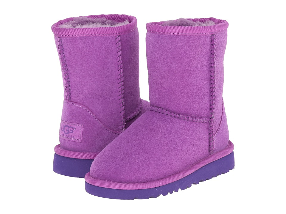 UGG Kids - Classic (Toddler/Little Kid) (Crazy Plum Twinface) Kids Shoes