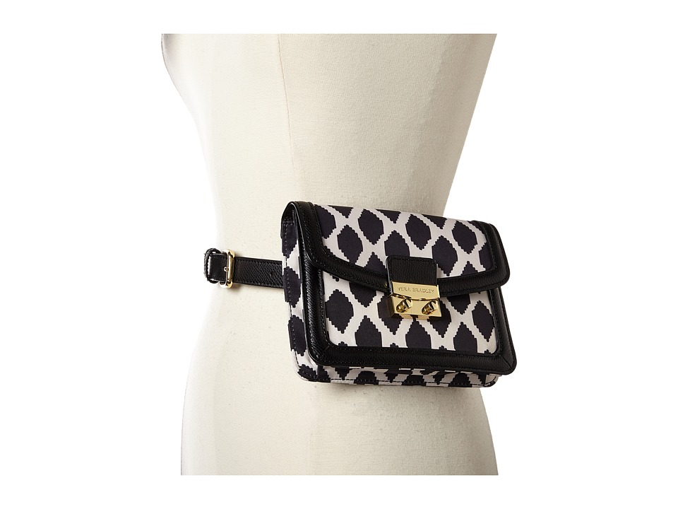 Vera Bradley - Tess Belt Bag (Ikat Spots Black) Handbags