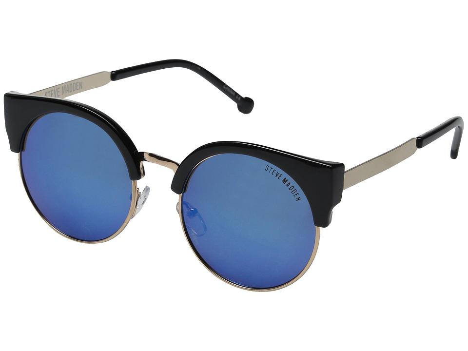 Steve Madden - Kelly (Black/Blue) Fashion Sunglasses