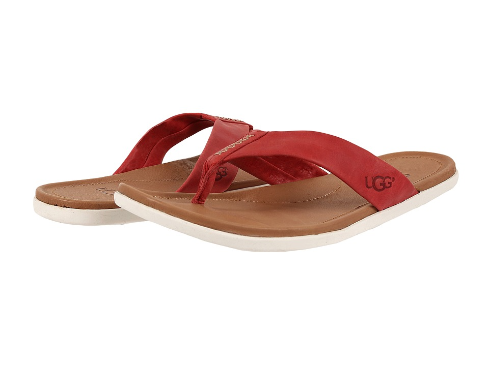 UGG - Delray (Pompeian Red Leather) Men's Sandals