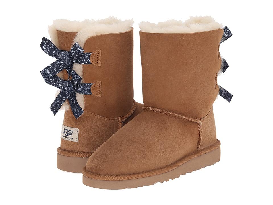 UGG Kids - Bailey Bow Bandana (Little Kid/Big Kid) (Chestnut Twinface) Girls Shoes