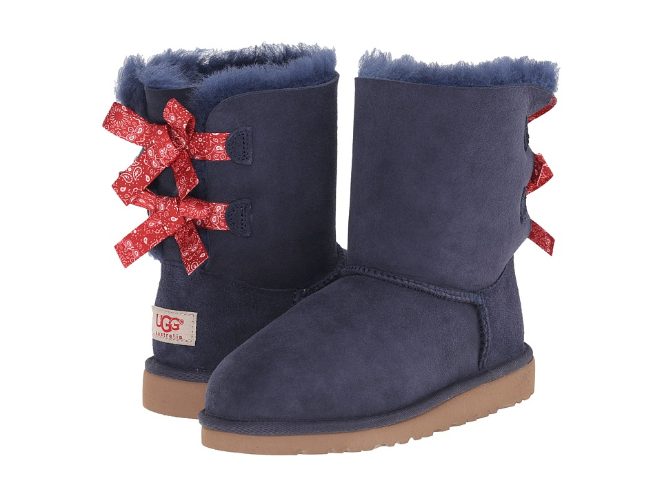 UGG Kids - Bailey Bow Bandana (Little Kid/Big Kid) (Indigo Twinface) Girls Shoes