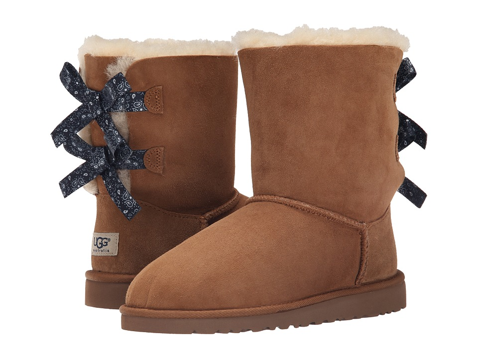 UGG Kids - Bailey Bow Bandana (Big Kid) (Chestnut Twinface) Girls Shoes