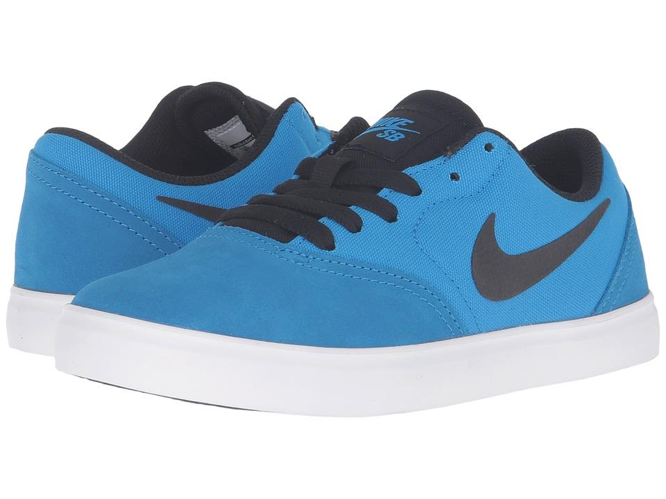 Nike SB Kids - SB Check (Big Kid) (Photo Blue/Black) Boys Shoes