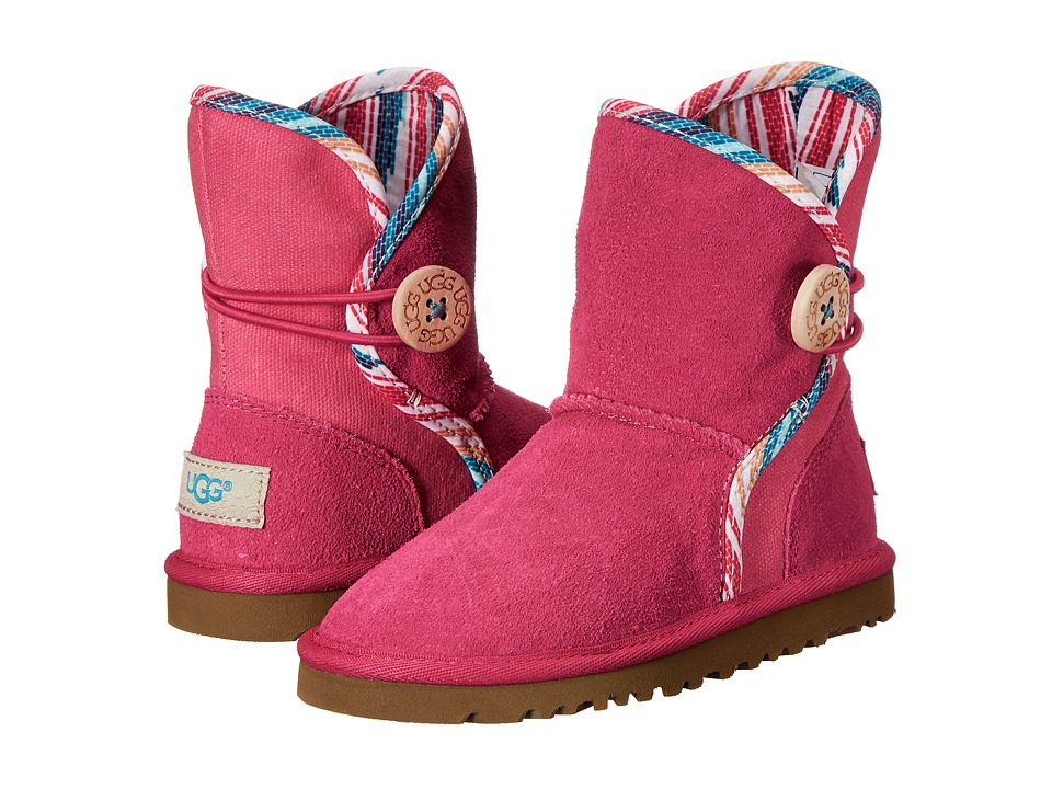 UGG Kids - Leona Serape (Toddler/Little Kid/Big Kid) (Racing Red Suede) Girls Shoes