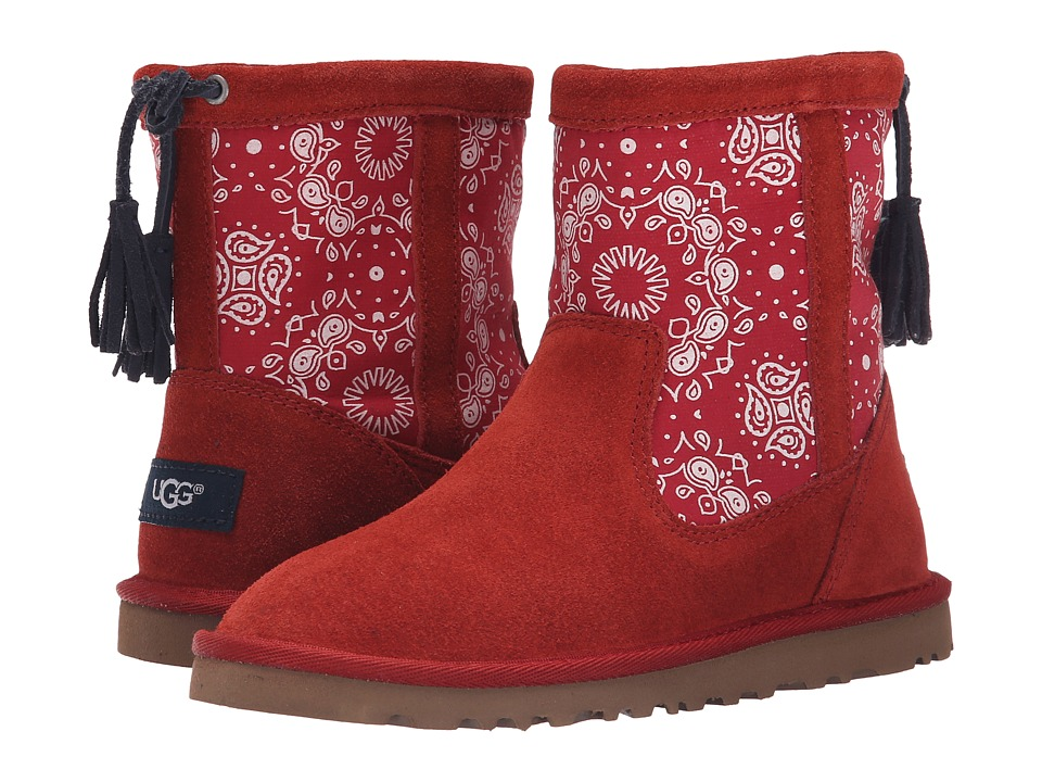 UGG Kids - Kaelou Bandana (Toddler/Little Kid/Big Kid) (Matador Red Suede) Girls Shoes