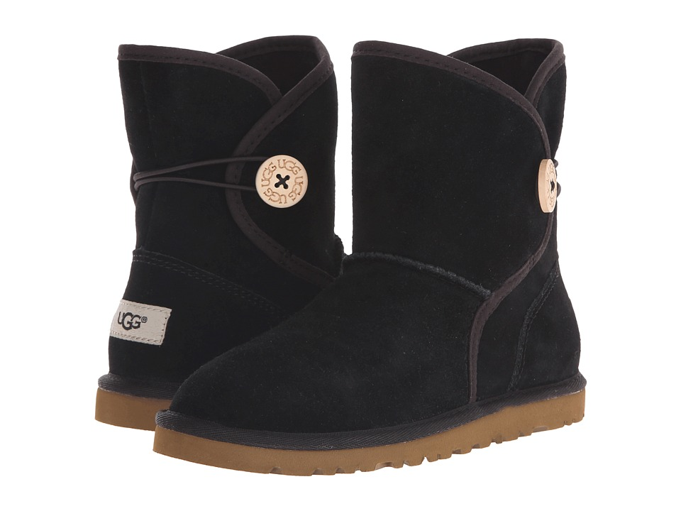UGG Kids - Leona (Toddler/Little Kid/Big Kid) (Black Suede) Girls Shoes