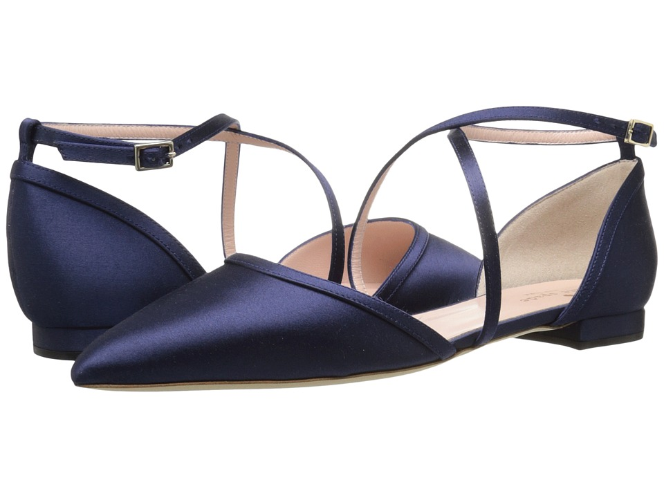 Kate Spade New York - Britta (Navy Satin) Women's Shoes