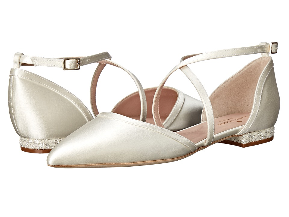 Kate Spade New York - Britta (Ivory Satin/Silver/White Glitter) Women's Shoes