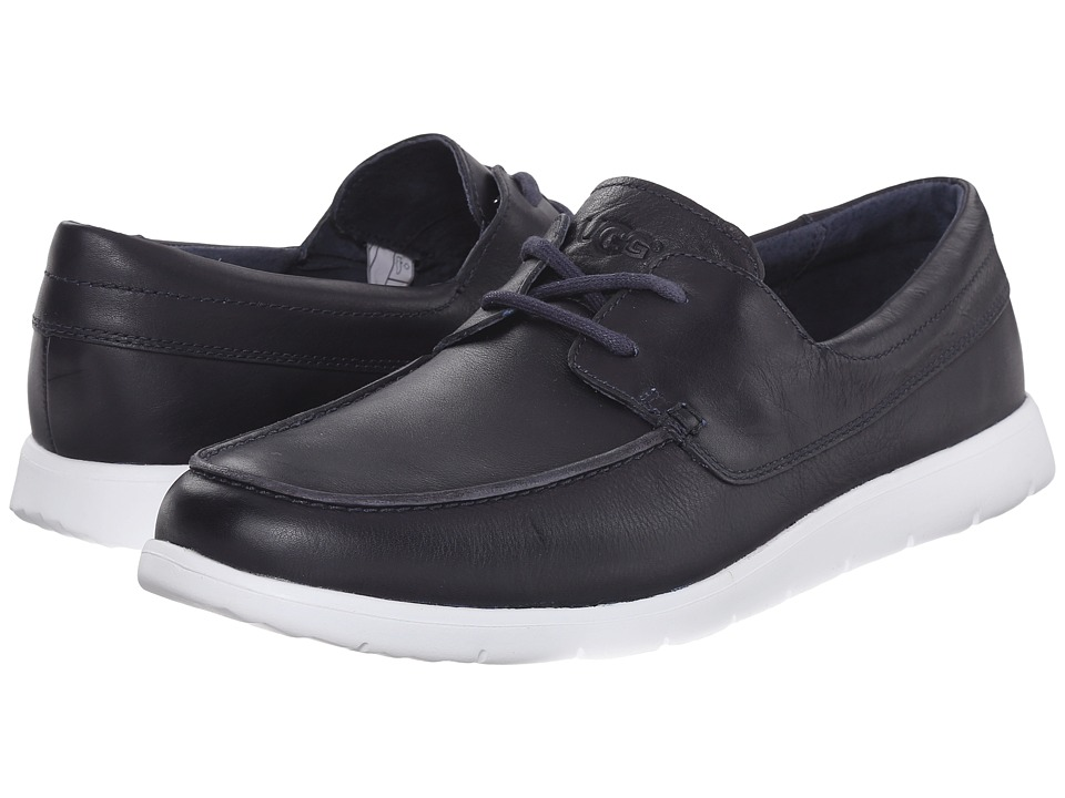 UGG - Catton (Navy Leather) Men's Slip on Shoes