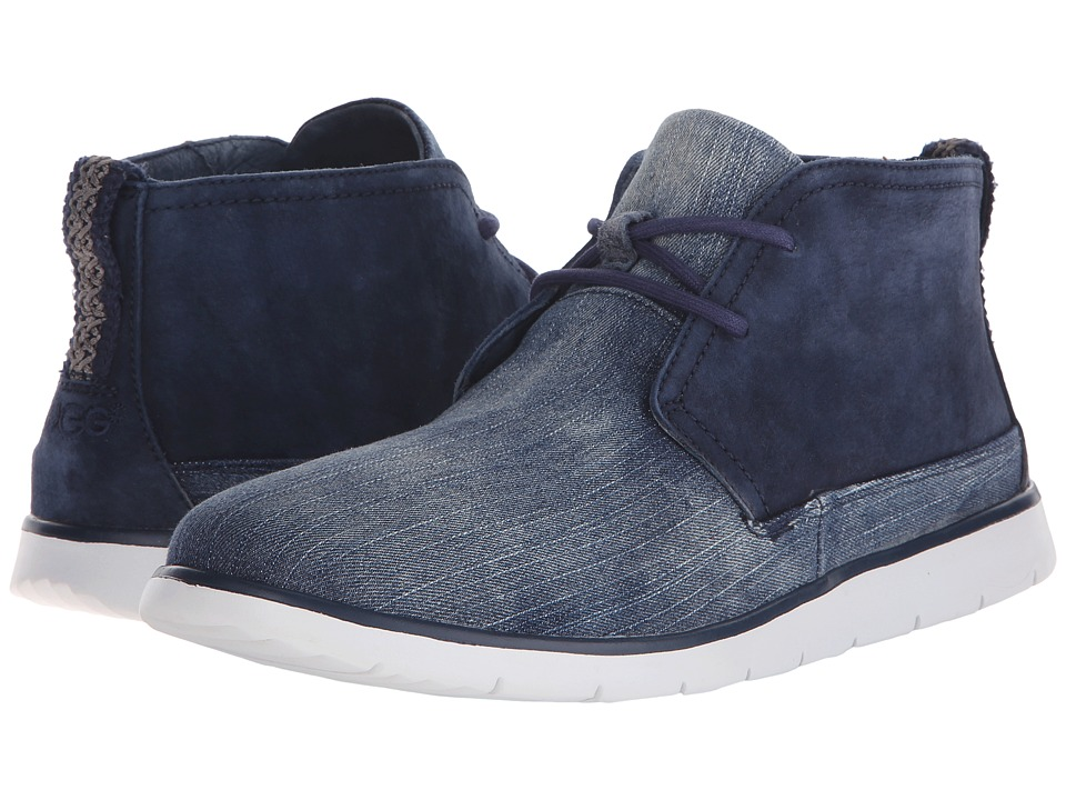 UGG - Freamon Washed Denim (Navy Denim) Men's Lace-up Boots