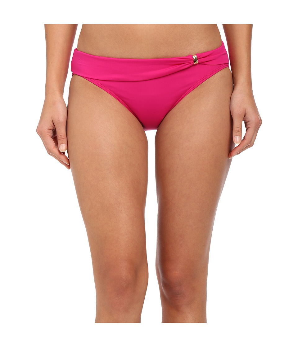 LAUREN Ralph Lauren - Laguna Solids Sash Slider Hipster Bottom (Pink) Women's Swimwear