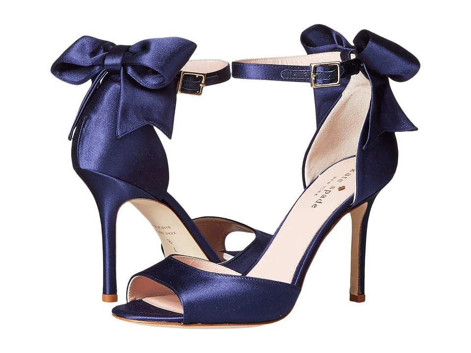 Kate Spade New York Izzie Navy Satin High Heels