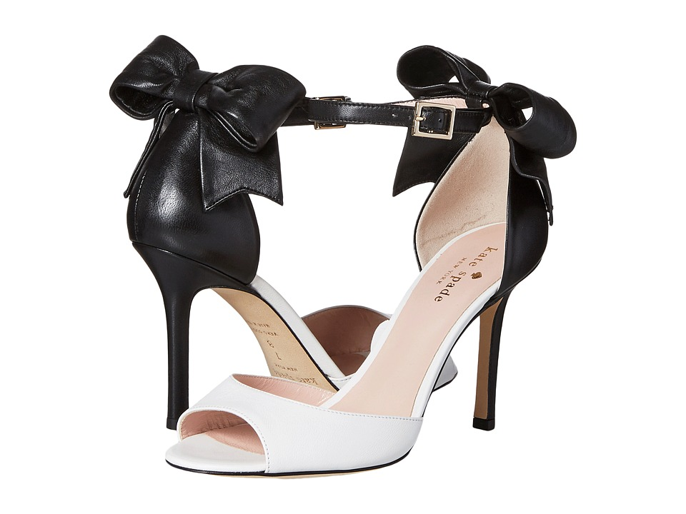 Kate Spade New York Izzie Off-White-Black Nappa High Heels