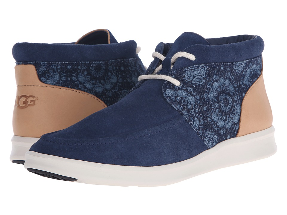 UGG - Hulman Bandana (Denim) Men's Lace-up Boots