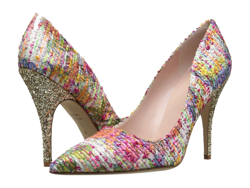 Kate Spade New York - Licorice (Multi Floral Tweed/Gold Glitter) High Heels
