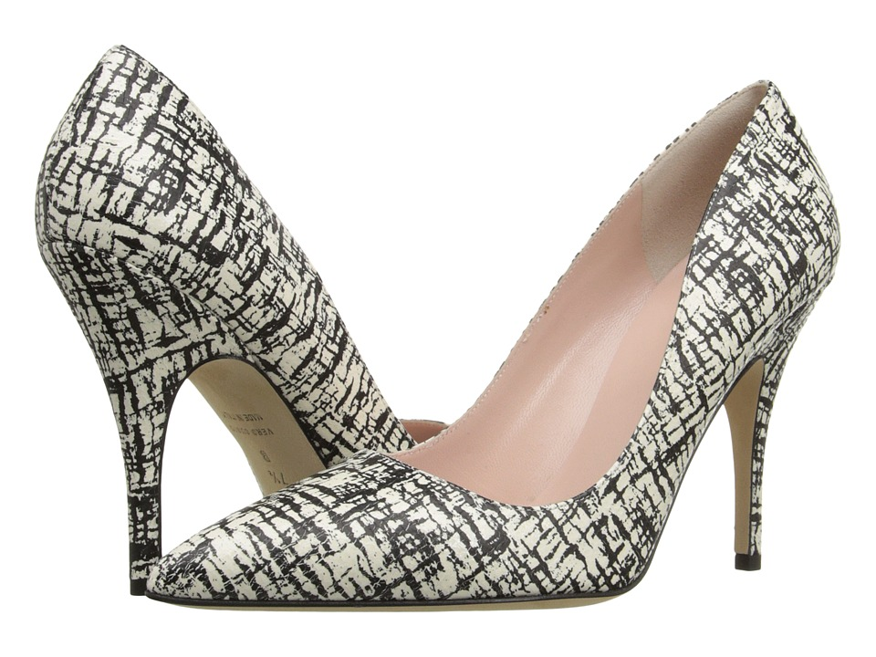 Kate Spade New York - Licorice (Cream/Black Printed Crackle Suede) High Heels