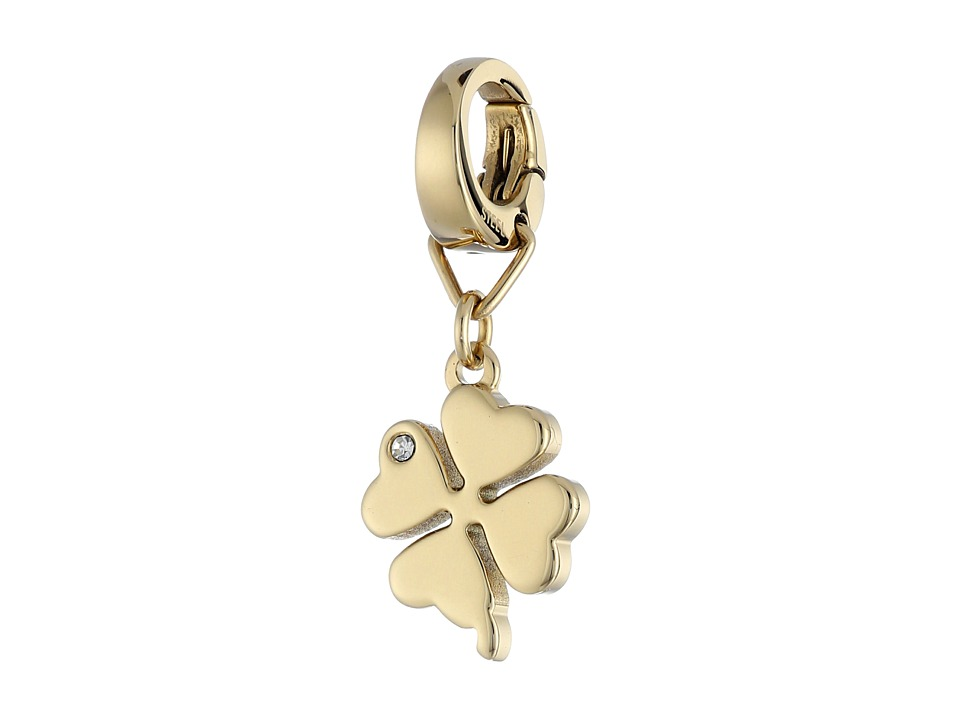 Fossil - Four Leaf Clover Charm (Gold) Charms Bracelet