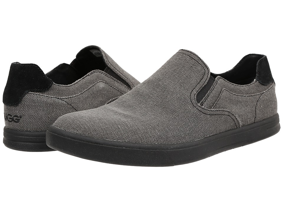UGG - Tobin Canvas (Black Textile) Men's Slip on Shoes