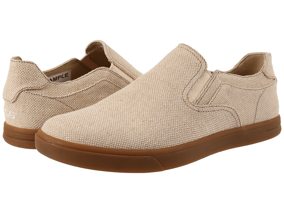 UGG - Tobin Canvas (Sand Textile) Men's Slip on Shoes