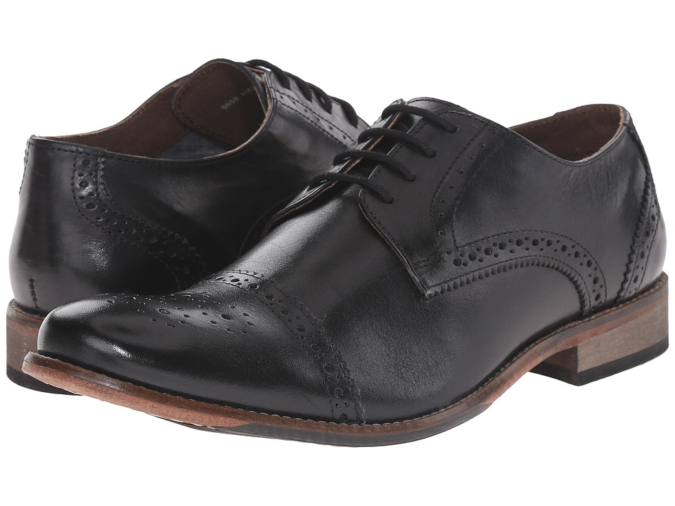 Lotus - Hargreaves (Black Leather) Men's Lace Up Wing Tip Shoes