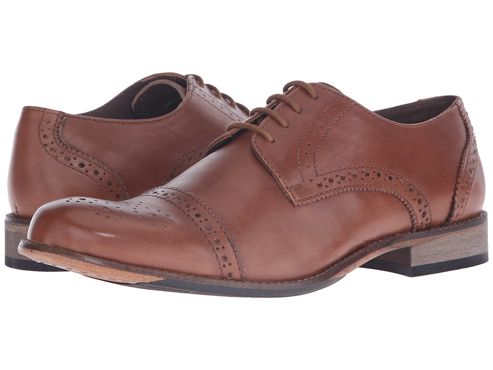 Lotus - Hargreaves (Burnished Tan Leather) Men's Lace Up Wing Tip Shoes