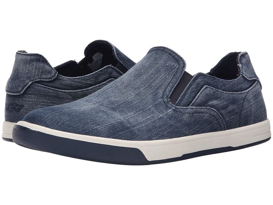 UGG - Tobin Washed Denim (Navy Denim) Men's Slip on Shoes