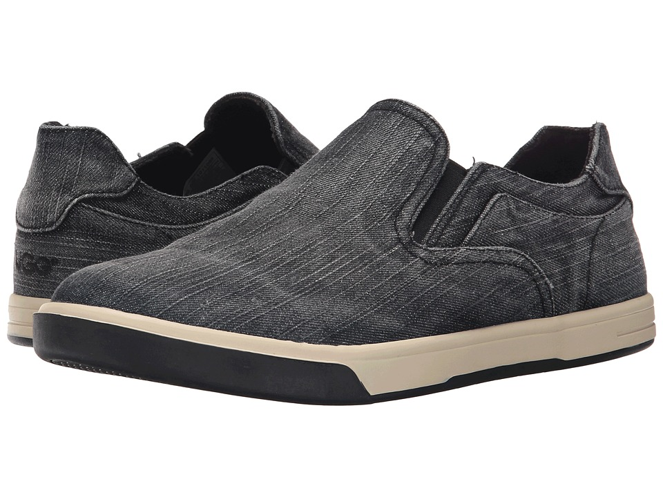 UGG - Tobin Washed Denim (Black Denim) Men's Slip on Shoes