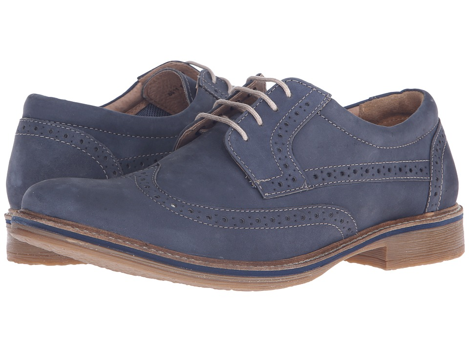 Lotus - Salisbury (Blue Nubuck) Men's Lace Up Cap Toe Shoes
