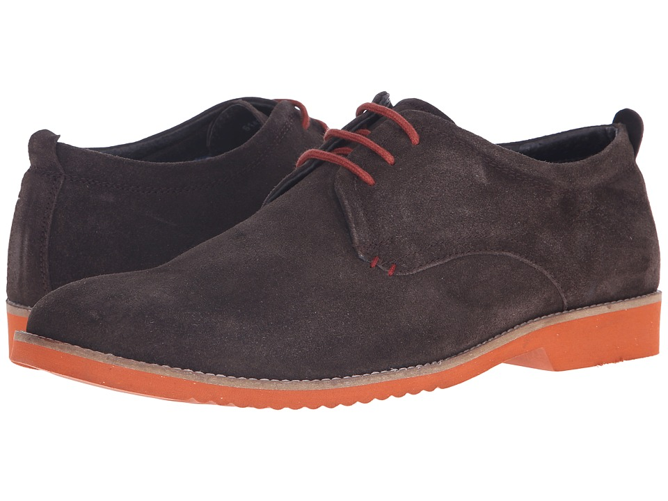 Lotus - Camley (Brown Suede) Men's Lace Up Wing Tip Shoes