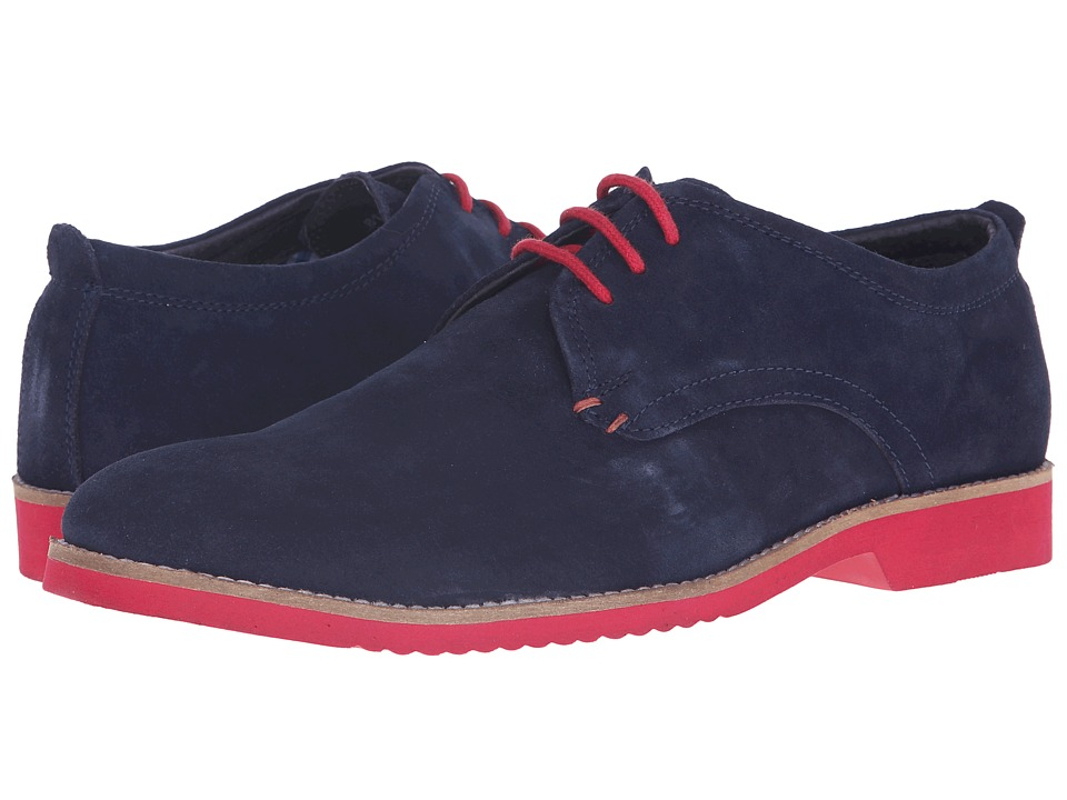 Lotus - Camley (Navy Suede) Men's Lace Up Wing Tip Shoes
