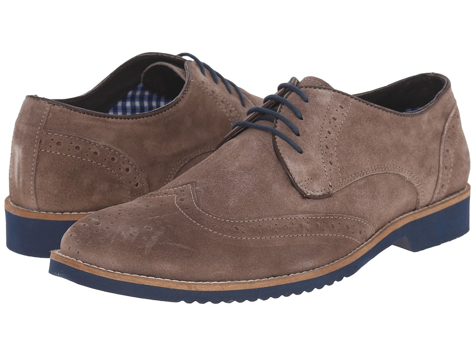 Lotus - Robson (Stone Suede) Men's Lace Up Wing Tip Shoes