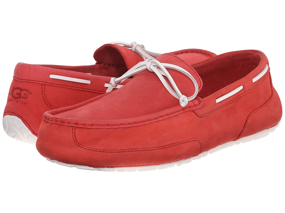 UGG - Chester Capra (Matador Red Leather) Men's Slip on Shoes