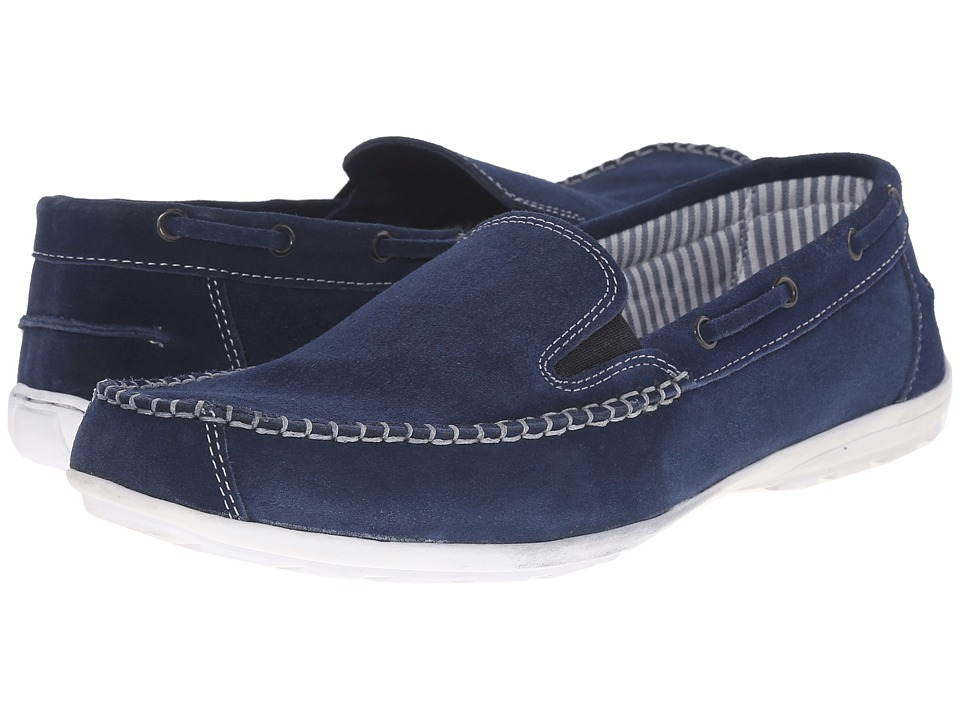 Lotus - Colby (Navy Suede) Men's Slip on Shoes