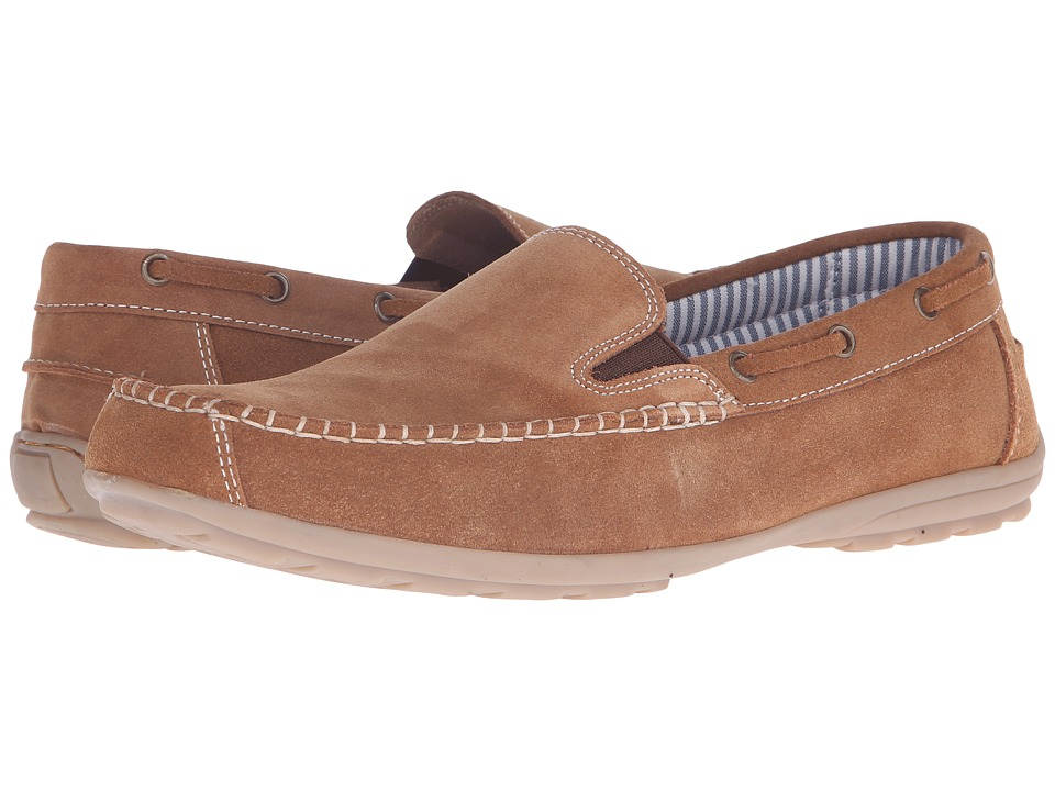 Lotus - Colby (Tan Suede) Men's Slip on Shoes