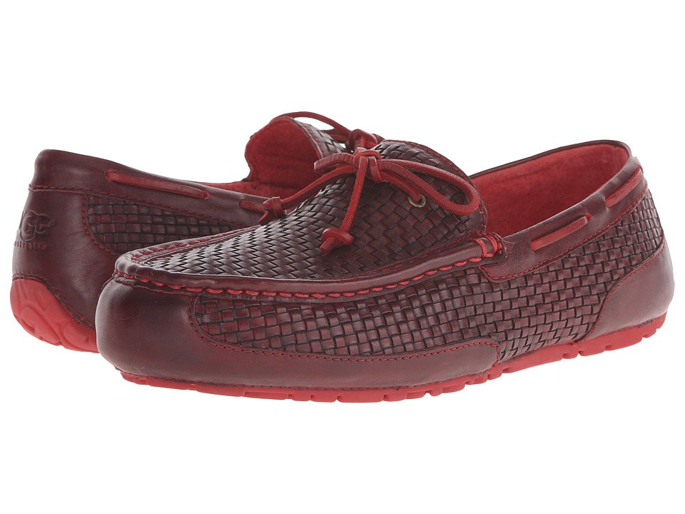UGG - Chester Woven (Matador Red Leather) Men