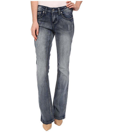 Seven7 Jeans - Flap Pocket Bootcut Jeans in Cliff Blue (Cliff Blue) Women