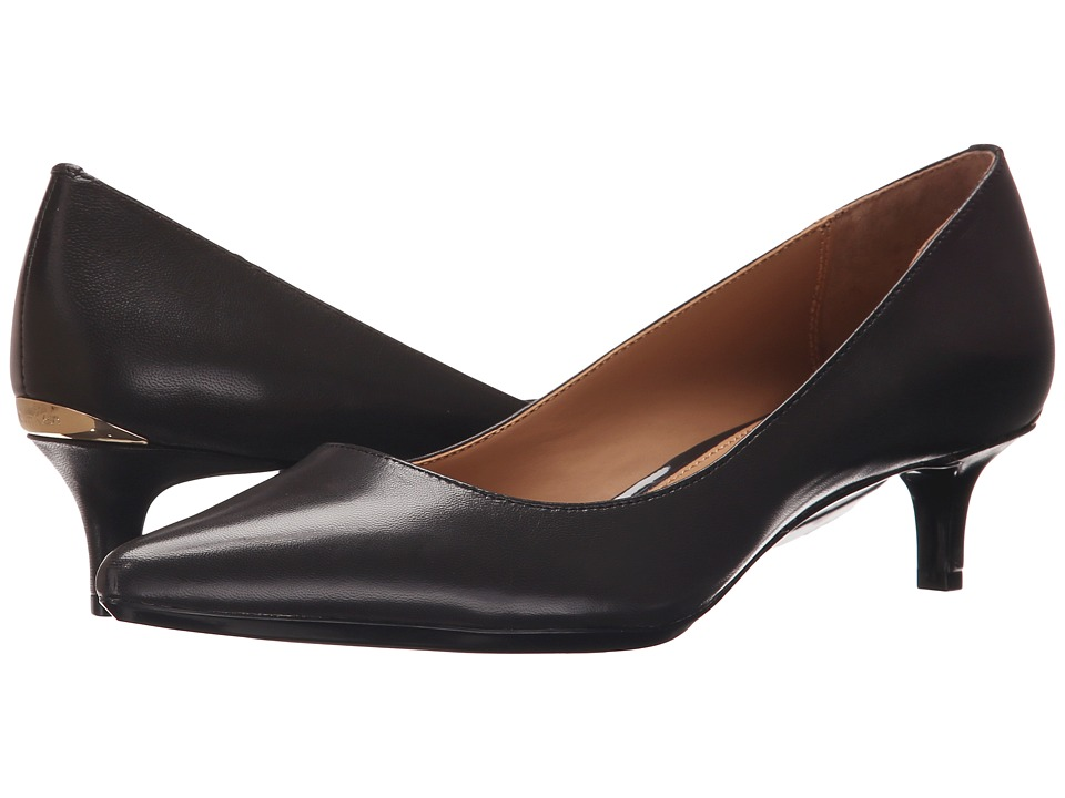 Calvin Klein - Gabrianna (Espresso Leather) Women's 1-2 inch heel Shoes